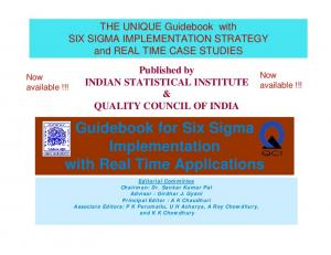 Guidebook for Six Sigma Implementation with Real Time Applications