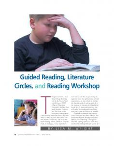 Guided Reading, Literature Circles, and Reading Workshop
