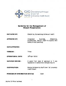 Guideline for the Management of Breech Presentation