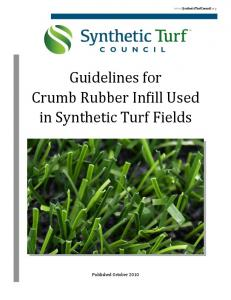 Guidelines for Crumb Rubber Infill Used in Synthetic Turf Fields