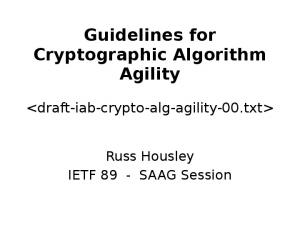 Guidelines for Cryptographic Algorithm Agility
