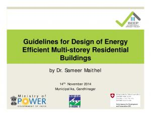 Guidelines for Design of Energy Efficient Multi-storey Residential Buildings