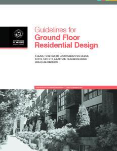 Guidelines for Ground Floor Residential Design