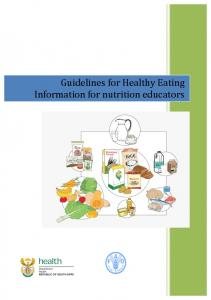 Guidelines for Healthy Eating Information for nutrition educators
