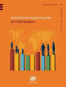 Guidelines for improving data on child adoption