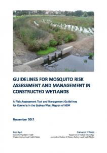 GUIDELINES FOR MOSQUITO RISK ASSESSMENT AND MANAGEMENT IN CONSTRUCTED WETLANDS