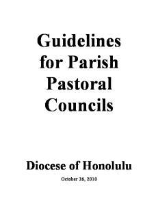 Guidelines for Parish Pastoral Councils