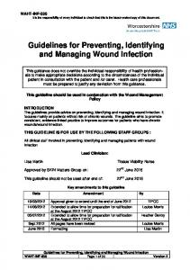 Guidelines for Preventing, Identifying and Managing Wound Infection