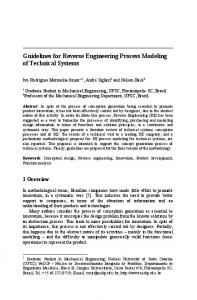 Guidelines for Reverse Engineering Process Modeling of Technical Systems