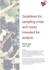 Guidelines for sampling wines and musts intended for analysis