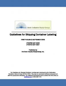 Guidelines for Shipping Container Labeling