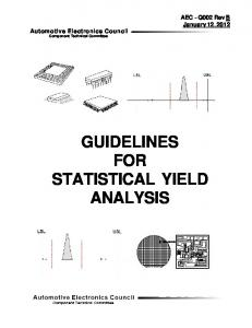 GUIDELINES FOR STATISTICAL YIELD ANALYSIS