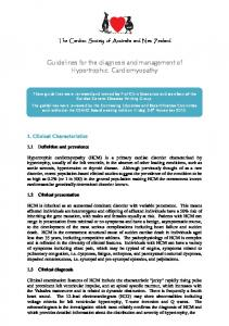 Guidelines for the diagnosis and management of Hypertrophic Cardiomyopathy