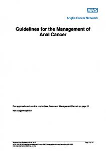 Guidelines for the Management of Anal Cancer