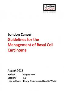 Guidelines for the Management of Basal Cell Carcinoma