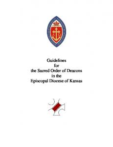 Guidelines for the Sacred Order of Deacons in the Episcopal Diocese of Kansas