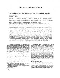 Guidelines for the treatment of abdominal aortic aneurysms