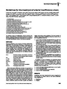 Guidelines for the treatment of arterial insufficiency ulcers
