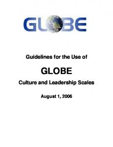 Guidelines for the Use of GLOBE. Culture and Leadership Scales