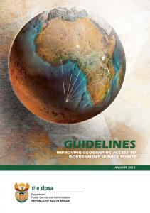 GUIDELINES IMPROVING GEOGRAPHIC ACCESS TO GOVERNMENT SERVICE POINTS