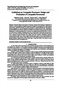 Guidelines on Composite Pavement- Design and Evaluation of Composite Pavements