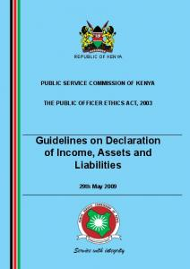 Guidelines on Declaration of Income, Assets and Liabilities
