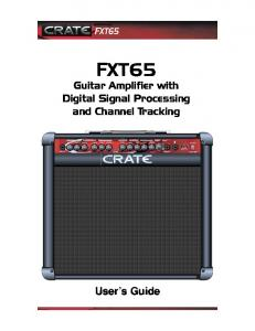 Guitar Amplifier with Digital Signal Processing and Channel Tracking