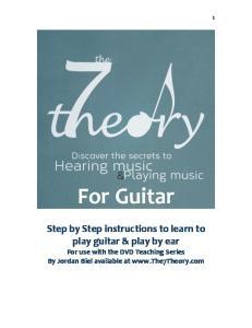 Guitar Chords Music Book by Jordan Biel