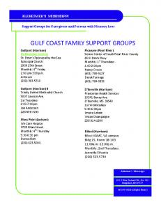 GULF COAST FAMILY SUPPORT GROUPS