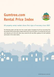 Gumtree.com Rental Price Index