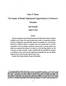 Guns N Roses: The Impact of Female Employment Opportunities on Violence in. Colombia