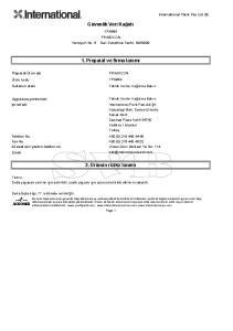 Güvenlik Veri Kağıdı. 1. Preparat ve firma tanımı