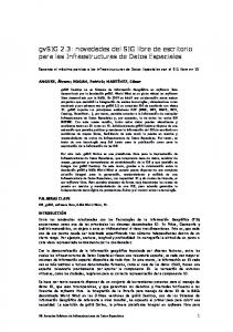 gvsig 2.3: novedades del SIG libre de escritorio para las Infraestructuras de Datos Espaciales