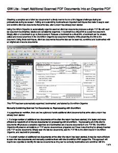 GW Lite - Insert Additional Scanned PDF Documents Into an Organize PDF