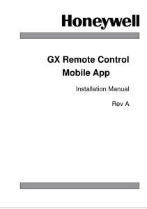 GX Remote Control Mobile Appp