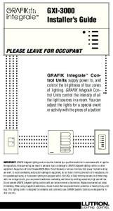 GXI-3000 Installer s Guide