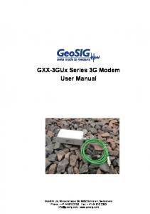 GXX-3GUx Series 3G Modem User Manual