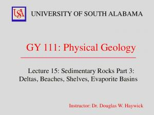 GY 111: Physical Geology