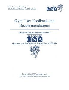 Gym User Feedback and Recommendations