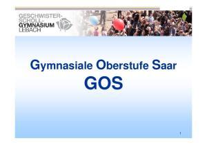 Gymnasiale Oberstufe Saar GOS