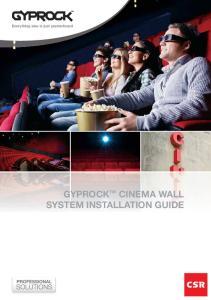 GYPROCK CINEMA WALL SYSTEM INSTALLATION GUIDE