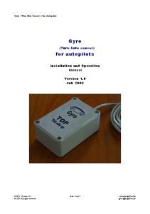 Gyro. for autopilots
