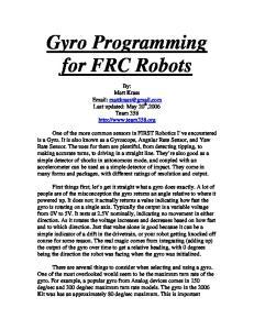 Gyro Programming for FRC Robots