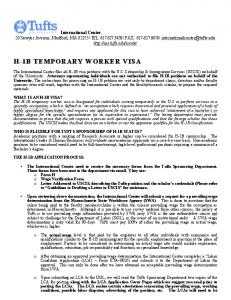H-1B TEMPORARY WORKER VISA