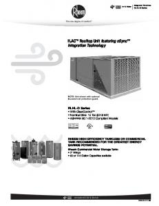 H 2 AC Rooftop Unit featuring esync Integration Technology
