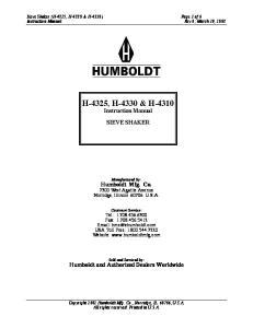 H-4325, H-4330 & H-4310