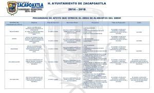 H. AYUNTAMIENTO DE ZACAPOAXTLA
