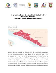 H. Ayuntamiento del Municipio de Salvador Alvarado, Sinaloa Instituto Municipal de las Mujeres