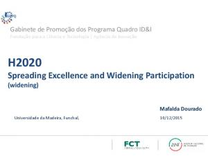 H2020 Spreading Excellence and Widening Participation (widening)