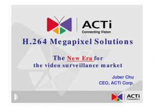 H.264 Megapixel Solutions